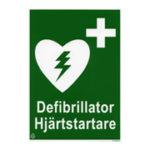 Skylt - Hjärtstartare
